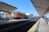 BNSF GE AC4400CW 5622 (with on hire to Metrolink RBXL EMD F59PH 18520 on the rear) arrives ecs into LA Union to form 217 1553 LA Union - Santa Clarita