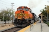 BNSF GE AC4400CW 5622 (with on hire to Metrolink RBXL EMD F59PH 18520 on the rear) about to depart Sylmar/San Fernando with 203 0729 LA Union - Via Princessa