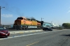 BNSF GE AC4400CW 5656 (with EMD F59PH #863 on the opposite end) shunts out of Via Princessa after arrival with 207 0945 LA Union - Via Princessa