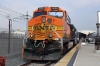 BNSF GE AC4400CW 5656 (with EMD F59PH #863 on the opposite end) at LA Union after arrival with 214 1129 Via Princessa - LA Union