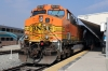 BNSF GE AC4400CW 5649 (with EMD F59PHI #887 on the rear) waits to depart LA Union with 402 1320 LA Union - Riverside Downtown