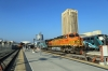 BNSF GE AC4400CW 5649 (with EMD F59PHI #887 on the rear) at LA Union after arrival with 411 1507 Riverside Downtown - LA Union