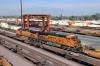 BNSF GE C44-9W #4977 & EMD SD75M #8244 shunt in San Bernadino Yard