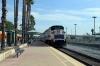 Metrolink EMD F59PH #857 departs Burbank Downtown with 213 1355 LA Union - Via Princessa