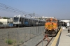 BNSF GE AC4400CW 5607 (with Metrolink EMD F59PH #873 on the rear) at LA Union after arrival with 214 1129 Via Princessa - LA Union