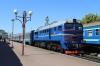UZ 2M62-1051a/b T&T at Ivano Frankivsk with 6434 1728 Ivano Frankivsk - Kolomiya