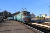 UZ VL10-1493 waits to depart Lviv with 601L 2040 Lviv - Solotvino 1 while UZ ChME3-6105 lurks in the station