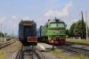 UZ M62-1103 at Solotvino 1 attached to the stock to work 601K 1746 Solotvino 1 - Lviv