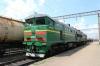 UZ 2TE10UT-0030 at Dolynska running round a freight