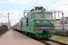 UZ VL80K-140 (1/2) waits to depart Kyiv Pas. while dragging EMU ER9M-4007 forming 6015 1357 Kyiv Pas - Fastiv 1