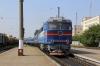 UZ TEP70-0156 arrives into Mykolaiv Pas. with the stock to form 062Sh 1110 Mykolaiv Pas - Moskva Kievskaya
