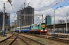UZ ChME3-571 brings a set of stock into Kyiv Pas.