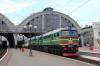UZ 2M62U-0215b/a wait departure from Lviv with 749 1407 Kyiv Pas - Ivano Frankivsk