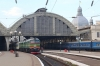 UZ 2M62U-0088a/0230a arrive into Lviv with 144 1346 Vorokhta - Kyiv Pas. while UZ 2M62U-0215b/a wait departure with 749 1407 Kyiv Pas - Ivano Frankivsk