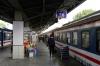 Vietnam - Saigon Railway Station - DSVN's SPT2 0640 Saigon - Phan Thiet is boarding