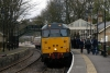 31601 waits to depart Stanhope with 2H01 1325 Stanhope - Bishop Auckland West with steam loco #40 on the rear