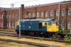 26007 dumped in Doncaster West Yard having been removed from the Wensleydale Railway Gala convoy due to a hot axle