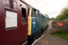 31162 at Redmire after arrival with the 1140 Leeming Bar - Redmire
