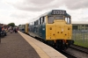 31162 at Leeming Bar after arrival with the 1305 Redmire - Leeming Bar