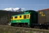 White Pass & Yukon Route, Alco powered GE #96 is stabled at Carcross, YK, ready to return to Skagway, AK the following day