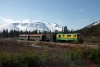 White Pass & Yukon Route - Alco powered GE #92 heads train 1 - 0745 Skagway - Carcross just outside Fraser, BC