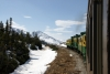 White Pass & Yukon Route - A GE/MLW combination of 100, 101, 95 head train 22 1020 Fraser - Skagway away from Fraser, BC