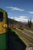 White Pass & Yukon Route - A GE/MLW combination of 100, 101, 95 head train 22 1020 Fraser - Skagway downhill towards Skagway
