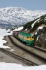 WP&YR - Refurbished GE's 97, 99, 91 run round their train at White Pass Summit