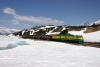 WP&YR - Refurbished GE's  98, 90 depart White Pass with 44 1433 White Pass - Skagway